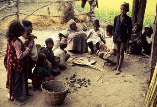 Raji Religion #65 Preparing items for Nikasi (Semau) puja 12-10-69.jpg